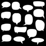 Placez, collection de bulles plates de la parole de vecteur de style, nuages, baloons Parler, parlant, causant, criant, riant, pe illustration stock