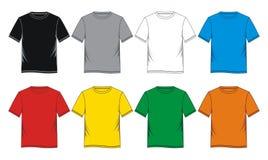 Placez coloré vide de T-shirt Photographie stock libre de droits