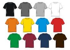 Placez coloré vide de T-shirt Photos stock