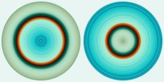 Placez de 2 cercles color?s abstraits lumineux d'isolement sur le fond blanc E illustration stock