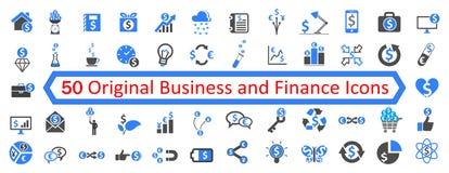 Placez 1 de 50 icônes d'affaires - vecteur Images stock