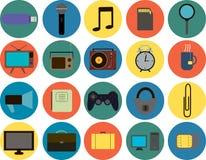 Placez de 20 icônes élégantes Photo libre de droits