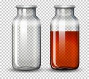 Placez de l'eau dans la bouteille illustration de vecteur