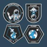Placez de l'explorateur d'espace que les corrections symbolise la conception illustration de vecteur