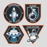 Placez de l'explorateur d'espace que les corrections symbolise la conception illustration stock
