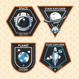 Placez de l'explorateur d'espace que les corrections symbolise la conception illustration libre de droits