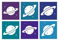 Placez de l'icône blanche de planète Illustration de vecteur illustration de vecteur
