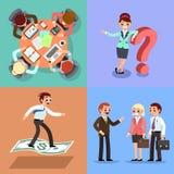 Placez de l'illustration d'affaires Ouvriers et femmes image libre de droits