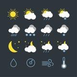 Placez de l'illustration de vecteur des icônes modernes de temps illustration de vecteur