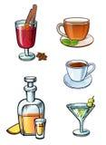 Placez de l'les illustrations de boissons illustration stock