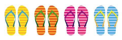 Placez de l'usage rayé coloré de bain de collection d'été de bascules électroniques illustration libre de droits