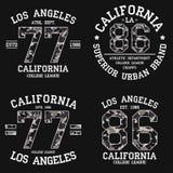 Placez de la conception graphique de Los Angeles pour le T-shirt avec la texture de camouflage Copie de tee-shirt de la Californi illustration libre de droits