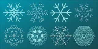 Placez de la conception de Noël de flocons de neige Illustration de vecteur illustration stock