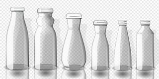Placez de la maquette vide de bouteilles de jus, sur le fond transparent illustration stock