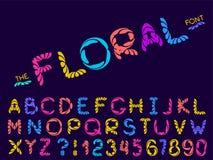 Placez de la police et de l'alphabet d'abr?g? sur vecteur illustration stock