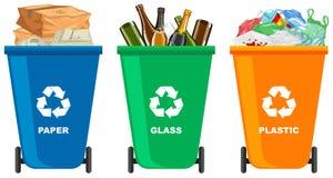 Placez de la poubelle différente illustration libre de droits