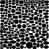 Placez de 204 labels décoratifs de cru ou les cadres silhouettent ENV 10 illustration stock