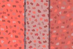 Placez de trois modèles sans couture de sol de mosaïque L'illustration de vecteur est faite dans des couleurs à la mode de 2019 illustration de vecteur