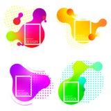 Placez des éléments colorés, abrégé sur gradient illustration de vecteur