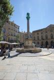 Placez DES Augustins, Aix-en-Provence, France Photos libres de droits
