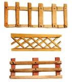 Placez des barrières en bois d'aquarelle illustration de vecteur