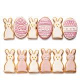 Placez des biscuits de Pâques Image libre de droits