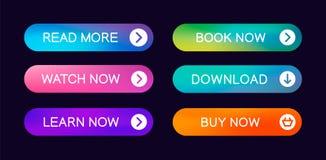 Placez des boutons abstraits modernes de Web illustration stock