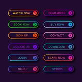 Placez des boutons abstraits modernes de Web illustration de vecteur