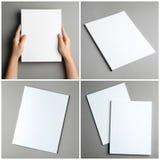 Placez des brochures vides sur le fond de couleur photo libre de droits
