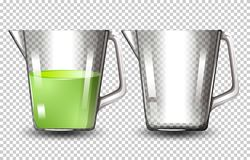 Placez des brocs en verre illustration stock