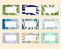 Placez des cadres et des cartes de visite professionnelle de visite multicolores Calibres floraux de cadre des textes pour le mar illustration de vecteur