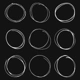 Placez des cercles tir?s par la main sur le fond gris illustration libre de droits