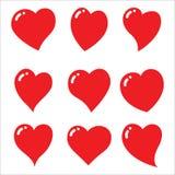 Placez des coeurs rouges - vecteur et illustration illustration libre de droits