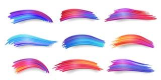 Placez des courses colorées d'isolement de brosse de gradient image stock