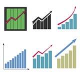 Placez des différents graphiques illustration stock