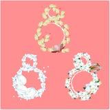 Placez des eights décoratifs pour des fleurs illustration libre de droits