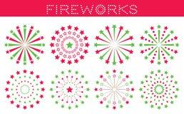 Placez des feux d'artifice pour le Joyeux Noël illustration stock