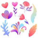 Placez des fleurs romantiques illustration libre de droits