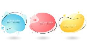 Placez des formes géométriques liquides de couleur en pastel ?l?ments liquides de gradient illustration de vecteur