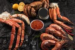 Placez des fruits de mer frais image stock
