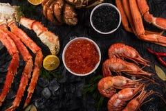 Placez des fruits de mer frais photo stock