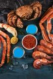 Placez des fruits de mer frais photos stock