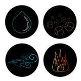 Placez des icônes de vecteur de quatre éléments illustration de vecteur