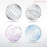 Placez des images abstraites des planètes Formes géométriques de vue des points et des lignes illustration libre de droits