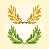 Placez des images des guirlandes de laurier illustration de vecteur