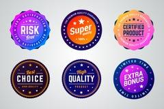 Placez des insignes colorés de la meilleure qualité de vecteur de gradient illustration de vecteur