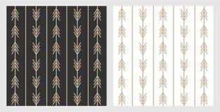 Placez des modèles à la mode de flèche de style de boho en noir et blanc pour la disposition et le fond Flèches d'or sur le style illustration de vecteur