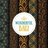 Placez des modèles sans couture dans le style indonésien de batik illustration de vecteur