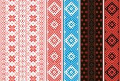 Placez des ornements slaves Rubans pour les ceintures et la décoration de l'habillement illustration libre de droits