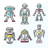 Placez des robots amicaux de bande dessin?e de vecteur illustration libre de droits